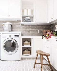 """1,749 Likes, 15 Comments - Style Me Pretty Living (@smpliving) on Instagram: """"Let's be real, doing laundry is boring. But, who said that your laundry room décor needs to be,…"""""""