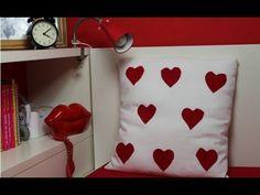 San Valentín, un cojín desenfundable sin cremallera ni botones, fácil fá...