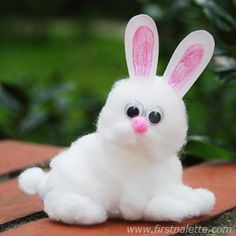 Grab some cotton and create a lovable little bunny.