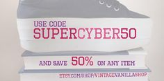 """Super Sale - 50 % off for any item! Use code """" SUPERCYBER50"""" and have fun! :) #cybermonday #blackfriday #vintage #fashion #sale #etsy #clothing #plussize #accessories #retro"""