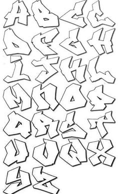 Graffiti Alphabet Bubble Letters Coloring Pages Printable And Book To Print For Free Find More Online Kids Adults Of