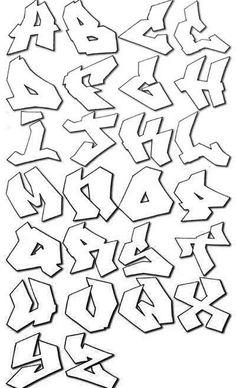 jagged graffiti alphabet