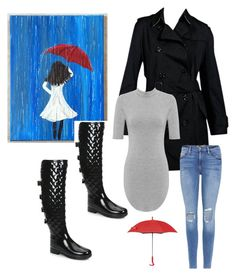 """Rainy day"" by marcsi-turcsanyi on Polyvore featuring Hunter, Burberry, Frame, WearAll and SWIMS"