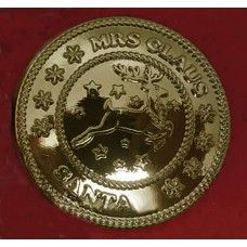 Mrs Claus's Special Reindeer Button - 18k Gold finish