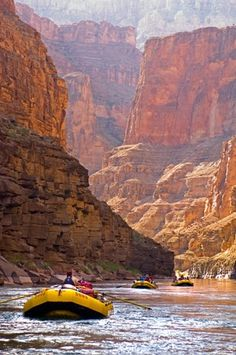 White water rafting on the Colorado River.