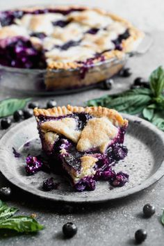 This Easy Blueberry Pie with Basil and Goat Cheese is a simple delicious summer dessert and perfect for Fourth of July. Use store-bought crust quickly toss the ingredients together and bake. Serve with sweet vanilla ice cream or warm cream and enjoy! Blueberry Goat Cheese, Easy Blueberry Pie, Blueberry Desserts, Cheesecake Desserts, Cheesecake Strawberries, Pumpkin Cheesecake, Tart Recipes, Gourmet Recipes, Cooking Recipes