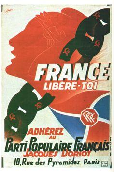 1939-1945 France Libère-Toi R Coulon 1942-1943 Affiches Politiques