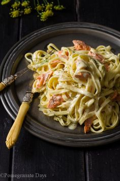 This recipe for Salmon Pasta & Lemon Cream Sauce is one of my absolute favourite pasta recipes. Simple fresh flavors and ease of preparation.