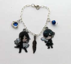 Black Butler Kuroshitsuji Charm Bracelet by ShishoDesigns on Etsy