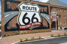 Pontiac currently has over 20 outdoor murals which depict its local commercial, cultural, and political history.  Most of the murals can be seen from your car, however, a walking tour is the best way to see the many details.  The largest mural is the Route 66 shield found on the back of the Illinois Route 66 Hall of Fame & Museum.