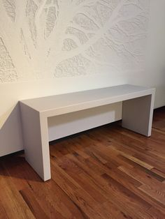 Futrus Corridor Bench in Corian solid surface Pearl Gray - helps meet fire code standards