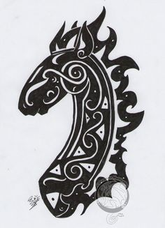 Caballo, tattoo, horse