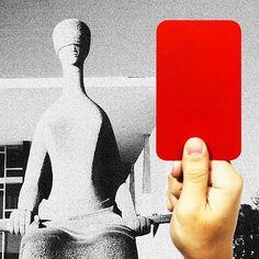 Cartão vermelho justiça (Foto: Arte: Antônio Lucena)
