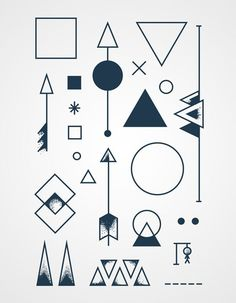 Geometric tattoos - perfect for fingers