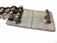 Chromed 2-Row Biker Chain Belt