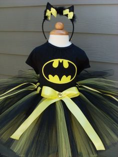 Batman Batgirl Halloween Tutu Costume  What Natalie wants to be for halloween today, it will be something different tomorrow