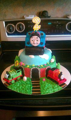 Thomas the train cake.