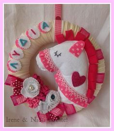 } Hello ladies, I thought today I would sho. Felt Wreath, Hello Ladies, Pinterest For Business, Craft Business, Irene, Wreaths, Candles, Christmas Ornaments, Holiday Decor