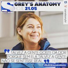 """Hoje tem episódio inédito de Greys Anatomy. Já assisti ao último episódio desta temporada e vou dizer uma coisa: pra que tanto sofrimento? Gostei do encerramento mas vcs vão ver que tiveram cenas completamente desnecessárias. """"Não sabemos se a gente realmente gosta da dor, mas a verdade é que a Shonda parece adorar nos fazer sofrer! Não é mesmo? :p Hoje, às 21h05, tem episódio inédito de #EuS2GreysAnatomy! Imperdível! #Repost @canalsonybr with @repostapp. ・・・ #cinetvmusic #greysanatomy"""