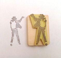 Michael Jackson Handcarved rubber stamp