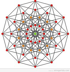 Geometrical and complex String Art free pattern