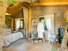 Atsipopoulo house rental - The beautiful decoration add to the natural sensation of the rooms! Beautiful Decoration, Treehouse, Jacuzzi, Villa, Relax, Rooms, Natural, Bedrooms, Treehouses