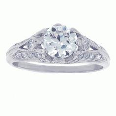 Edwardian Old European Diamond Engagement Ring