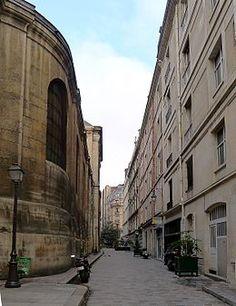 Paris 1er - Passage Saint-Roch avec l'église Saint-Roch à gauche