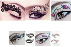eye shadow tattoo temporary, these would be a great idea for Halloween