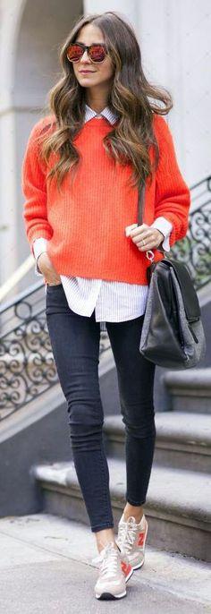 Orange Knit Crop Sweater | Outlet Value Blog