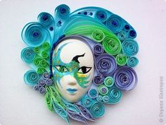 Stunning quilled mask