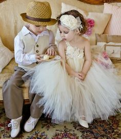 Ring Bearer & Flower Girl Outfits... so adorable - Click image to find more Weddings Pinterest pins