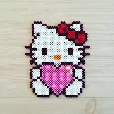 Image result for perler beads hello kitty pattern