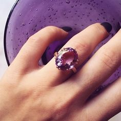 Pin for Later: These Engagement Rings Will Inspire You to Choose a Rainbow-Colored Rock Lavender Love