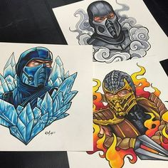 If you have any money left after buying the game, these Mortal Kombat original… Mortal Kombat Tattoo, Arte Kombat Mortal, Mortal Kombat Memes, Scorpion Mortal Kombat, Sub Zero Mortal Kombat, Desenho New School, Art Tumblr, Comic Tattoo, Gaming Tattoo