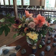Amaryllis, peonies and roses by floralartvt.com Sophisticated Elegance: Vermont Wedding Flowers - Floral Artistry