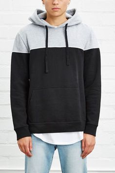 Two-Toned Colorblock Hoodie