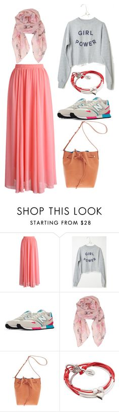 """Gaya Hijab with skirt"" by prastikaparamhita on Polyvore featuring Chicwish, New Balance, Humble Chic, Mansur Gavriel and Lizzy James"