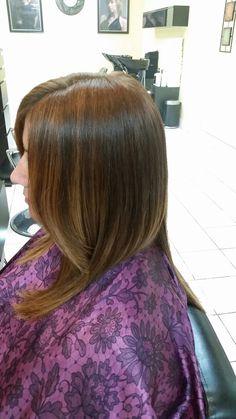 Balayage  and haircut