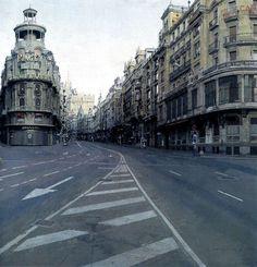 Pintura La gran vía, de Antonio López