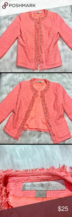 Boston Proper Blazer Bright Size 8 Women's Career Gently used. Please see photos for more detail. Boston Proper Jackets & Coats Blazers