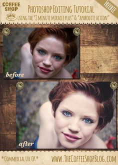 "CoffeeShop Photoshop/PSE Editing Tutorial: Using ""2 Minute Miracle Plus"""