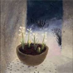 """Candlemas"" by Winifred Nicholson, (This ancient festival takes place on 2 February and marks the midpoint of winter, halfway between the shortest day and the spring equinox. Winifred Nicholson, William Nicholson, Wild Flowers, Potted Flowers, Illustration Art, Illustrations, Still Life, Abstract, Artwork"