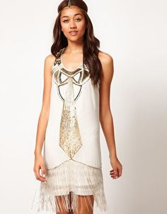 Enlarge River Island Beaded Deco Dress