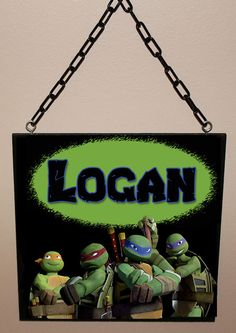 Custom Name Sign  TMNT Inspired / Personalized / by Berryhills, $13.95