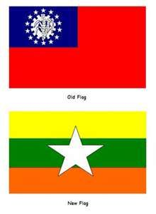 Myanmar old flag and new Flag