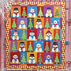Basic Sewing Scrappy Snowmen - Quilt Pattern at Makerist - Scrap Quilt Patterns, Pdf Patterns, Applique Quilts, Christmas Sewing, Christmas Snowman, Christmas Quilting, Christmas Ideas, Christmas Patchwork, Christmas Collage