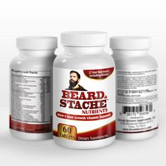 Made in the USA from FDA approved ingredients in certified GMP labs - BEARD & STACHE NUTRIENTS FOR MEN: 27 Beard and Mustache Facial Hair Growth Nutrients in 1 Formula Fast and healthy facial hair growth supplement Supports healthy looking hair growth by providing Biotin (5000 mcg) + herbal extracts + vitamins + minerals for maximum beard growth / mustache growth / beard health