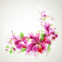 Stylish Shiny flower art background vector 01 - corner floral in pink Free Vector Backgrounds, Flower Backgrounds, Vector Free, Eps Vector, Watercolor Floral Wallpaper, Flower Wallpaper, Hd Wallpaper, Art Floral, Art Background