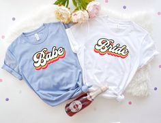 Retro Bride and Babe Shirts